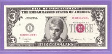 Bill Clinton The Accused $3 Political Funny Note
