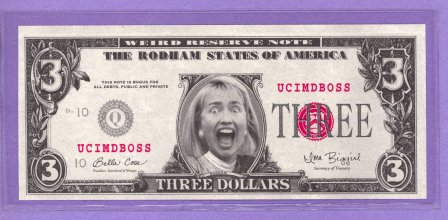 Screaming Hillary The Rodham States of America Political Note