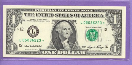 2006 $1.00 FRN STAR NOTE San Francisco District L* Block Run 2 L05036223* UNC