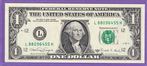 1988A $1.00 FRN San Francisco District LH block Run 2 L88096455H UNC