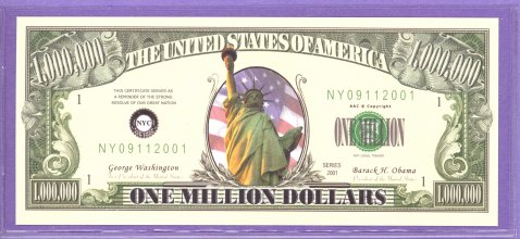Statue of Liberty Sptember 11, 2001 Fantasy or Novelty Note