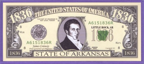 State of Arkansas Novelty or Fantasy Note