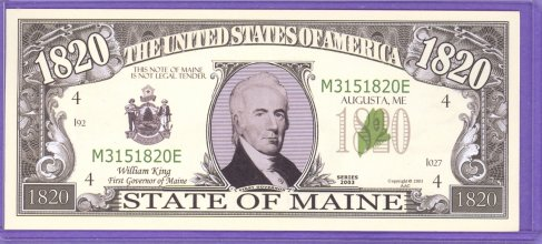 State of Maine Novelty or Fantasy Note