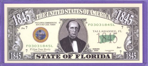 State of Florida Novelty or Fantasy Note