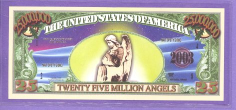 Angels $25,000,000 Novelty or Fantasy Note
