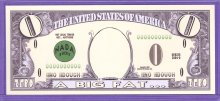 2004 A Big Fat Zero Novelty Note