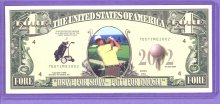 2002 Fore Dollar Golfing Note