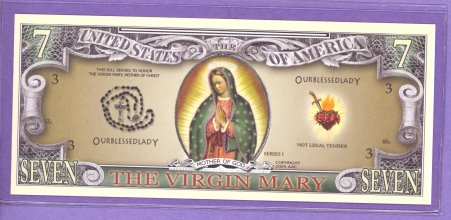 The Virgin Mary Fantasy or Novelty Note