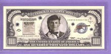 James Gang $100,000 Fantasy or Novelty Note