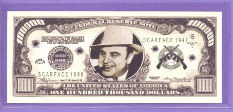 Al Capone $100,000 Fantasy or Novelty Note