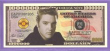 Elvis Presley $1,000,000 Fantasy or Novelty Note