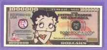 Betty Boop $1,000,000 Fantasy or Novelty Note