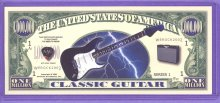 2002 Guitar Novelty $1,000,000 Novelty Note