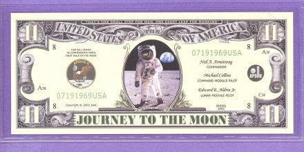 Journey to the Moon Apollo 11 Novelty or Fantasy Note