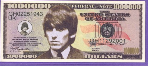 George Harrison Million Dollar Note - The Beatles