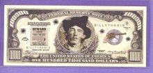 Billy The Kid $100,000 Fantasy or Novelty Note