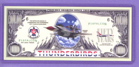2003 The Thunderbirds $1,000.000 50th Anniversary Note