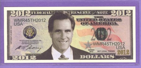 Mitt Romney Fantasy or Novelty Note