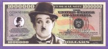 Charlie Chaplin $1,000,000 Fantasy or Novelty Note