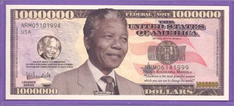 Nelson Mandela Million Dollar Fantasy or Novelty Note