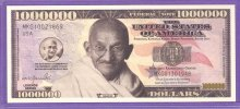 Mahatma Gandhi Million Dollar Fantasy or Novelty Note