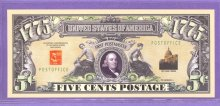 First US Stamp 1775 Novelty or Fantasy Note
