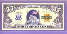 US Postal Service 37 cents Novelty or Fantasy Note