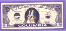 Spaceshuttle Columbia One O Seven Note