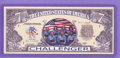 1986 Challenger Spaceshuttle Seven Brave Heroes Note