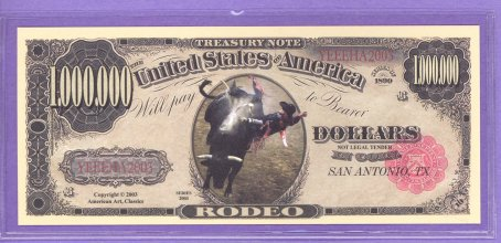 Rodeo $1,000,000 Novelty or Fantasy Note